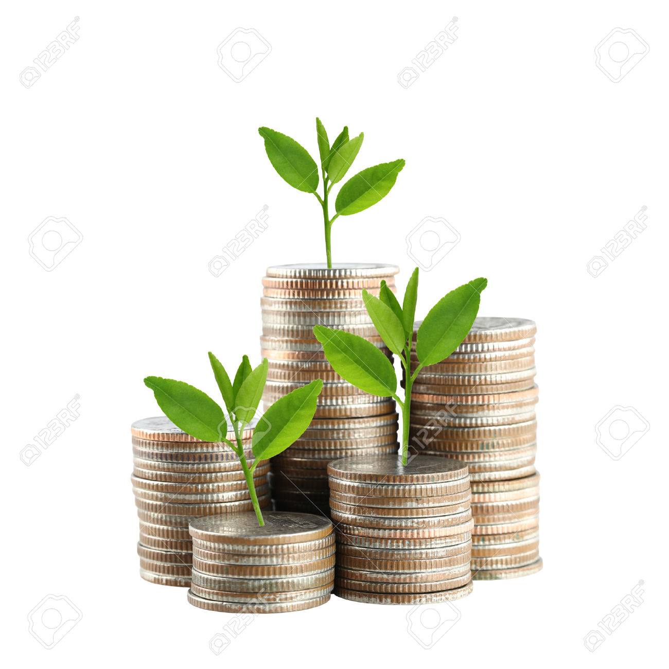 42077120-silver-Thailand-coins-stack-isolated-and-green-treetop-demonstrate-the-concept-of-growth-in-economic-Stock-Photo