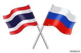 russia thai flags