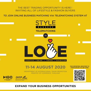 STYLE BANGKOK Telematching in L.O.V.E. 11-15 August 2020