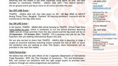 THAIFEX-Anuga-Asia PRESS RELEASE