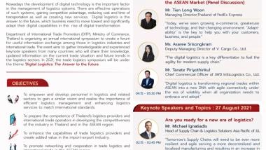 Trade Logistics Symposium 2021: Digital Logistics 26-27 August 2021